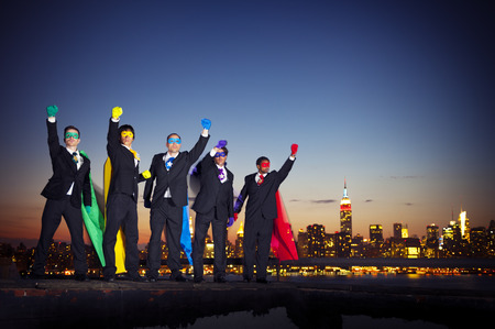 Superhero businessmen.