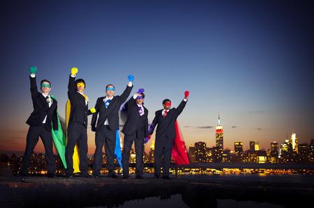 Superhero businessmen. photo