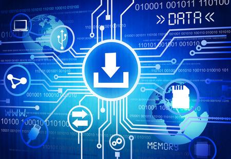 데이터 개념의 디지털 생성 이미지