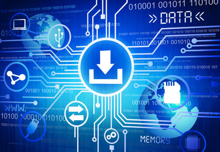 digital data: Digitally Generated Image of Data Concept Stock Photo