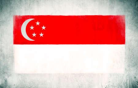 singaporean flag: Illustration of Flag of Singapore