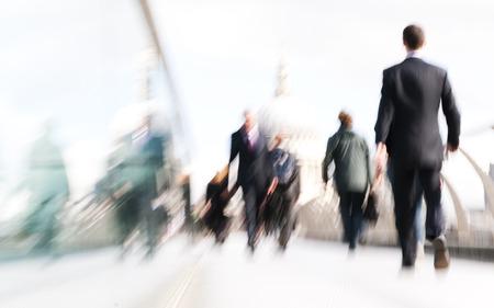 church people: People rushing in London. Stock Photo