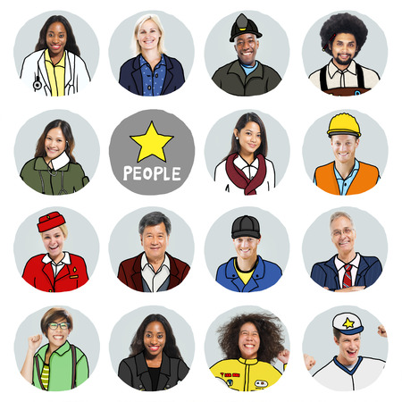 Portraits of DIverse People with Different Jobs photo