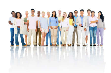 asian business people: Group of Cheerful Multi Ethnic Diverse People Stock Photo