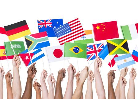 各国の国旗 写真素材