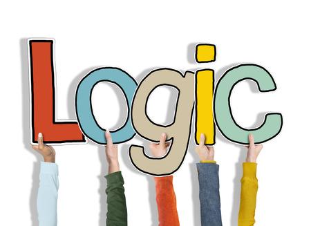 Logic Reden Gedachte Armen omhoog Holding Begrijp Concept Stockfoto