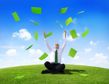 succession: Green Business succession Stock Photo