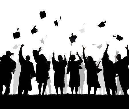 卒業を祝っている多様な外国人留学生のグループ 写真素材 - 34537539