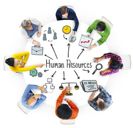 Multi-etnische groep van mensen met een Human Resources Concept