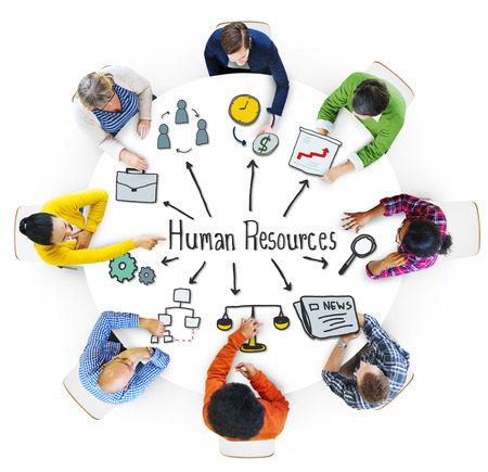 business resources: Multiethnic Group of People with Human Resources Concept