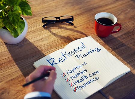 retirement: Businessman Brainstorming About Retirement Planning