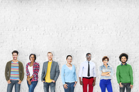 diverse people: Group of Multiethnic Diverse Cheerful People Stock Photo