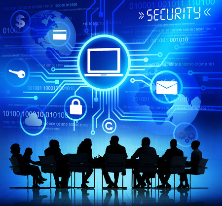partnership security: Internet Security System Stock Photo