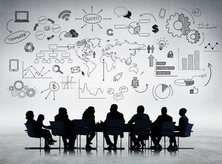 reuniones empresariales: Negocios discusi�n Foto de archivo