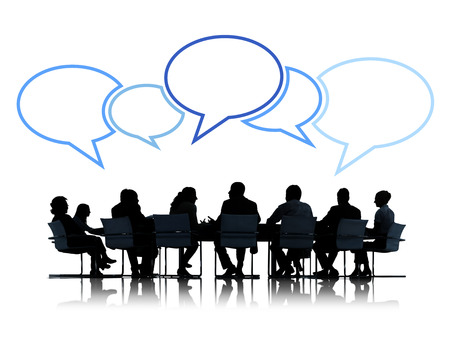 group: Group of Business People in Meeting Stock Photo