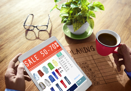 Digital Online Marketing Sale Shopping Concept Stock Photo