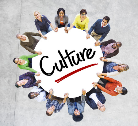 african culture: Diverse People in a Circle with Culture Concept Stock Photo