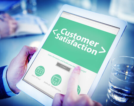 Business Online Customer Satisfaction Working Concept photo