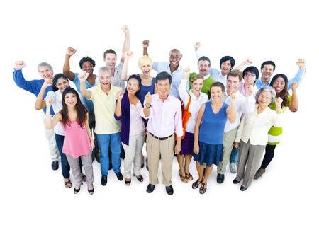 personas celebrando: Grupo de hombres de negocios que celebra
