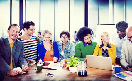 communication: Étudiants de l'Université d'apprentissage Communication Concept