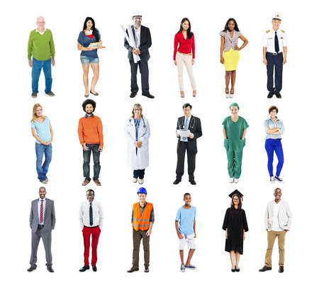 different jobs: Diverse Multiethnic People with Different Jobs