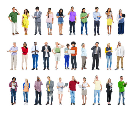 the social network: Group of People with Various Concepts Stock Photo