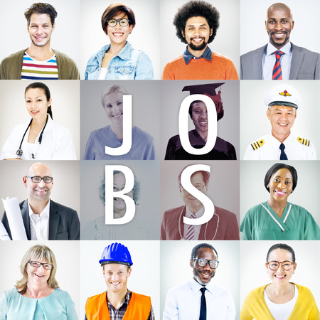 different jobs: Portraits of DIverse People with Different Jobs Stock Photo