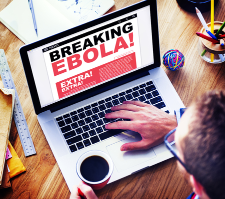 breaking news: Digital Online Breaking News Headline Ebola Concept