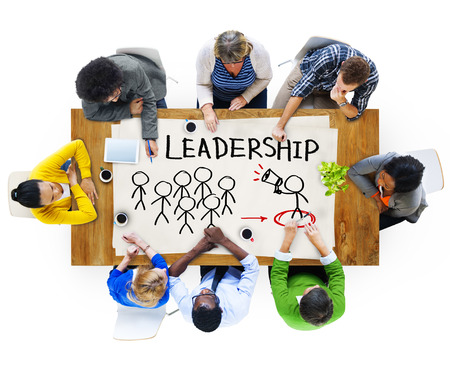 Multi-Ethnic Group of People and Leadership Concepts