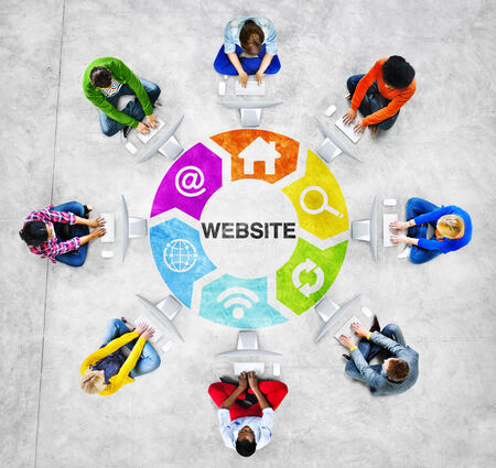 american downloads: People Social Networking and Website Concept Stock Photo