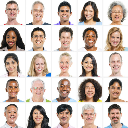 diversidad: Gran grupo de Multi Grupo �tnico Foto de archivo