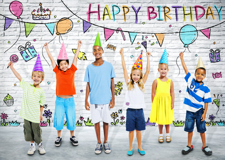 kids birthday party: Kids Birthday Party Stock Photo