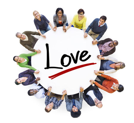Aerial View of People and Love Concepts photo