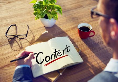 Man writing: Empresario Escribir el contenido Palabra Foto de archivo