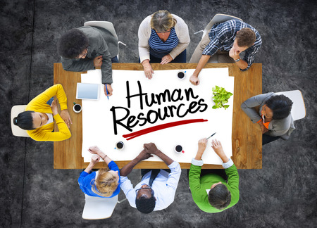 Multiethnic Group of People Discussing About Human Resources photo