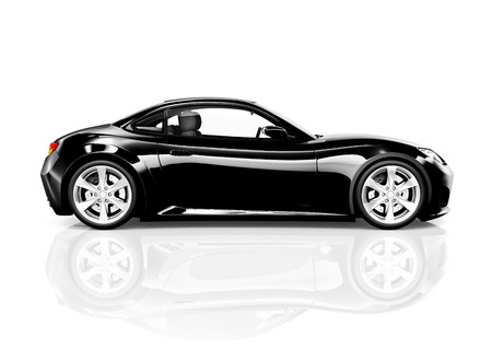 Zwarte Sportwagen Stockfoto