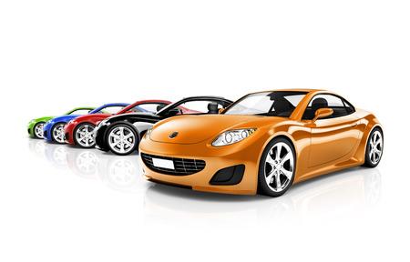 multi colored: Multi Colored Three Dimensional Modern Cars