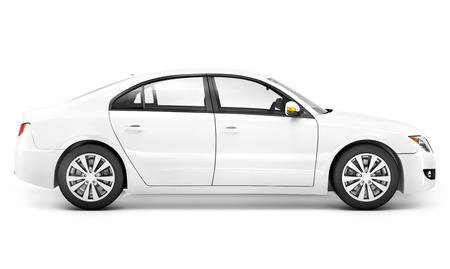 white car.