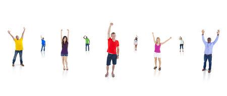 Group of People Celebrating Stock Photo