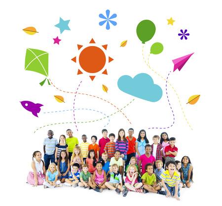little girl: Multi-Ethnic Group of Children