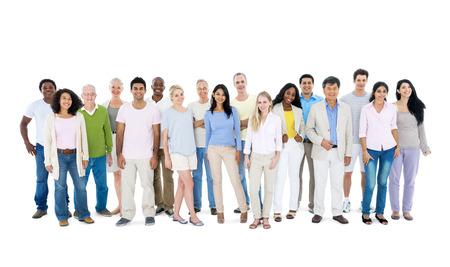 casual caucasian: Group of casual people Stock Photo
