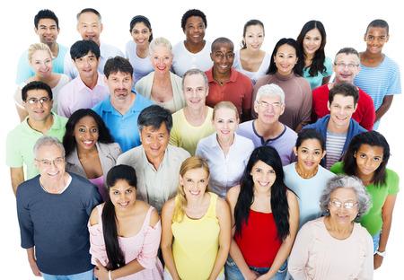 personas reunidas: Gran grupo de personas