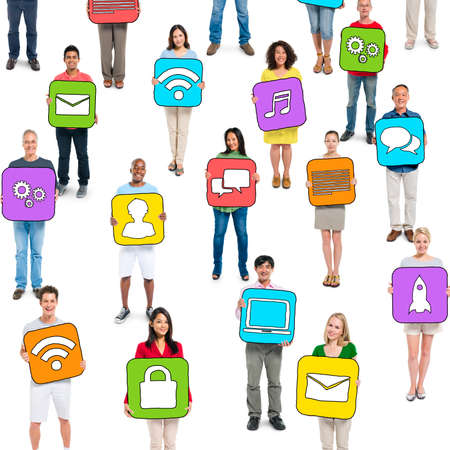 Group of People and Social Networking Concepts photo