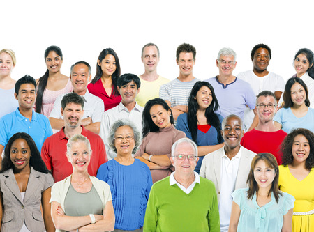 ethnic people: Large group of multi - ethnic people Stock Photo