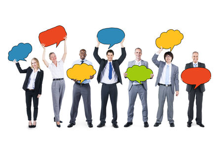 Business People Holding Speech Bubbles photo