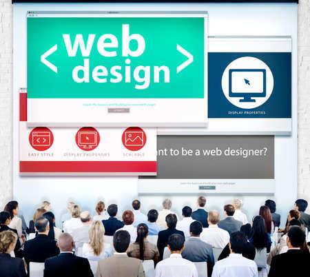 copyrights: Web Design Website Presentation Graphic Meeting Concept