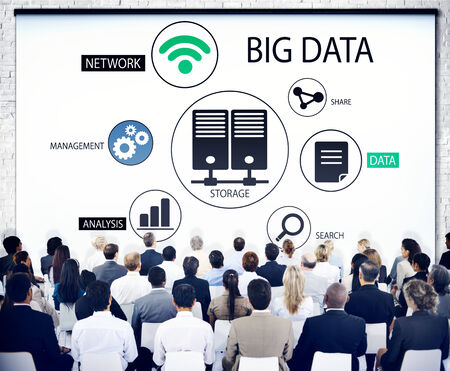 Diverse Business People in a Seminar About Big Data photo