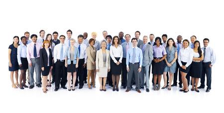 Grote groep van mensen uit het bedrijfsleven Stockfoto