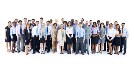 teams: Large Group of Business People Stock Photo