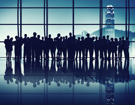 large group of business people: Large Group of Business People Gathered in the Office Stock Photo